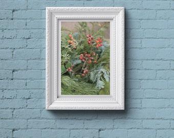 Printable photo of winter plants decoration