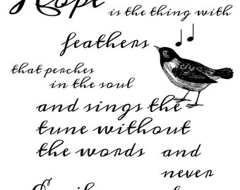 Hope Is The Thing With Feathers - INSTANT DOWNLOAD