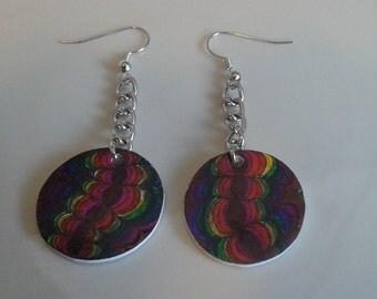Rainbow psychedelic earrings
