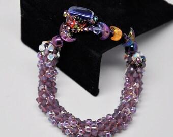 Bead Crochet Bracelet - Vintage Moons