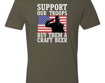 Troop shirts etsy for Funny craft beer shirts
