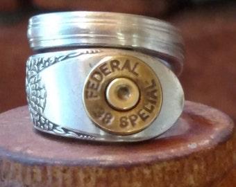 Handmade bullet ring