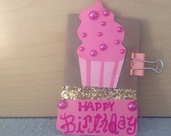 Icing on top of the cupcake birthday card