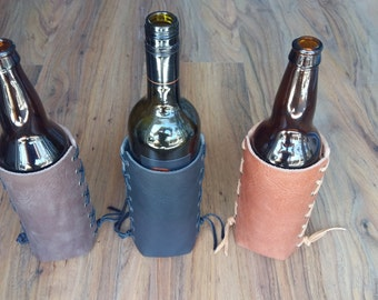 Leather Beer Bomber Jacket