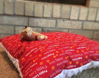 Handmade Reversible Dog Bed