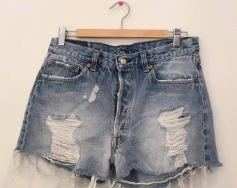 Vintage Levi's Denim Shorts - 90s - Size 30 - Summer - Multi-Buttoned