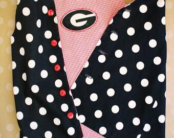 Reversible University of Georgia UGA Sweetie Dress