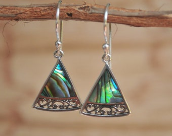 Abalone Earrings * Coral Earrings * Mother of Pearl Earrings * Mermaid Earrings* Small Earrings* Lightweight Shell *Natural *Organic BJE011