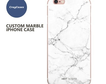 Custom Name Marble Phone case, personalised marble iPhone 6s case, 6 Plus, 7, 6s Plus, cell phone cover (Shipped From UK)