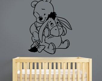 Winnie The Pooh Wall Art pooh bear stickers | etsy