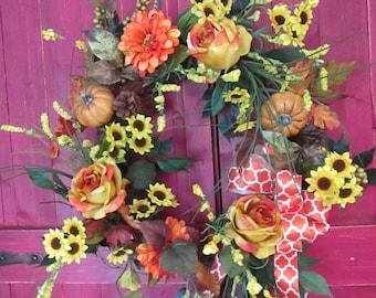 Autumn Glory Fall Wreath