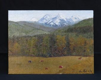 Original Oil Painting, Mt. Baker Washington