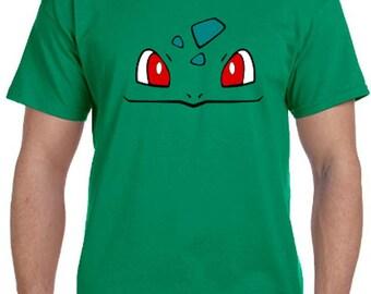Bulbasaur Face Pokemon Go Cosplay Parody T-Shirt * Sizes 2T - 6XL* Ladies Sizes  * Venusaur * Ivysaur * Mystic * Valor * Instinct
