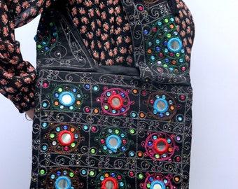 Hand Stitched Embellished Shoulder Bag 1015