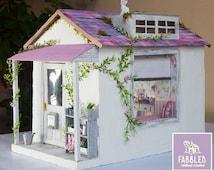 1:6 Shabby Chic Handmade Dollhouse for Blythe, Barbie, Pullip or other 12 inch dollsdolls