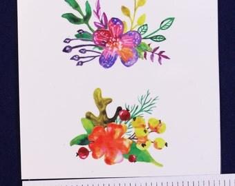 Temporary Tattoo Flowers TT088