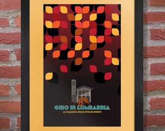 Giro di Lombardia Cycling Poster Print - The Monuments
