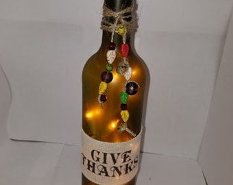 Decorative lighted bottles