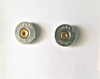 Bullet Jewelry- 38 Special Nickel Bullet Stud Earrings