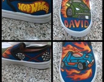 Custom Hand Painted Hot Wheel Shoes