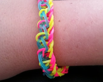 Stormy Seas Rainbow Loom Bracelet