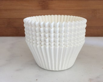 Solid White BakeBright Cupcake Liners, Taller Sized, Baking Cups (30)