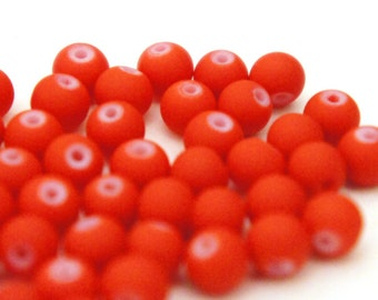 Red Rubber Spacer Beads