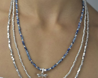 Three Level Long Dragonfly Necklace- 0063