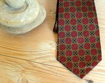 Vintage tie, Necktie, Mens accessories, Mens tie, Gift for him, Mens necktie, Silk tie, wedding tie, Red tie, Boho tie, Hipster tie, groom
