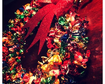 Classic Assorted Edible Candy Wreath (400 pieces)