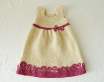 Christening gown / evening dress, organic wool