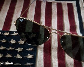 Romantic era of aviation, WWII Flight Jacket and Aviator Sunglasses