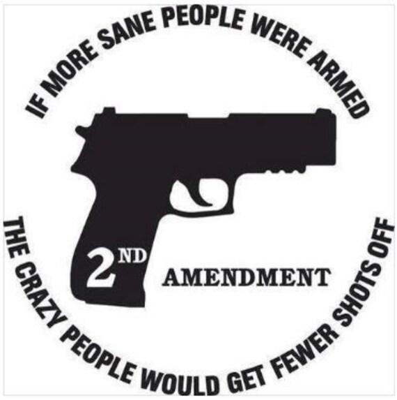 2nd Amendment If More Sane People Had Guns