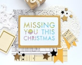 Long Distance Christmas Card for Military Deployment Separation, Long Distance Holiday Card, I Love You, Christmas Card, Miss You