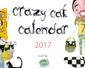 Printable 2017 Calendar: Instant Download Crazy Cat Lady instant download PDF