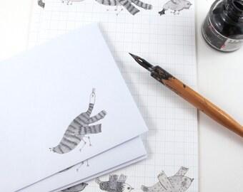 Writing Paper Set Printable Download Bird Design
