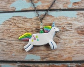 Hand Painted Unicorn Necklace