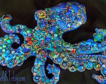 SALE The Fantastic Bead Mosaics© SEAlife Series The Blue Reef Octopus
