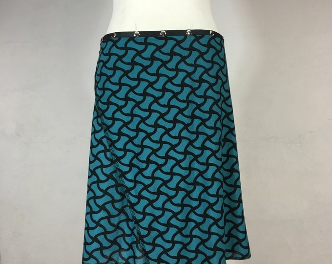 Snap Around Skirt, Blue Basketweave Classic by Erin MacLeod