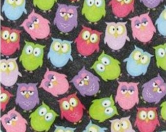 "Printed Felt Rectangle: Owls (9""x12"")"