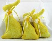 STUFFED BUNNY Tuckins, Set of 3, Bunny Tucks, Easter Bunny, Bunny Ornaments, Bunny Decorations, Easter Ornaments, Easter Decoration