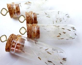 Dandelion Seed Bottle Wish Necklace. Dandelion Seeds Necklace. Natural Botanical Jewellery. Dandelion Necklace. Botanical Jewelry WISHES