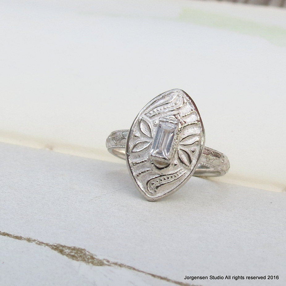 unique alternative engagement ring vintage style cocktail ring