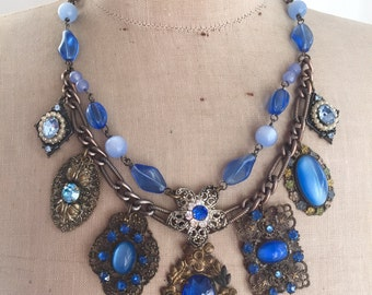 Antique Brooch Statement Necklace - Duchess