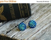 20% OFF . Blue Druzy Earrings . Druzy Studs . Druzy Jewelry . Acrylic Surgical Steel Studs . Stocking Stuffers . Christmas Gifts for Women