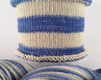 Restrain Yourself: Hand-dyed gradient self-striping sock yarn, 80/20 SW merino/nylon