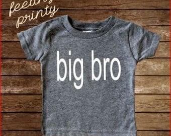 SALE GrAy big bro Shirt Big Brother Shirt Boys Shirt New Brother shirt grey