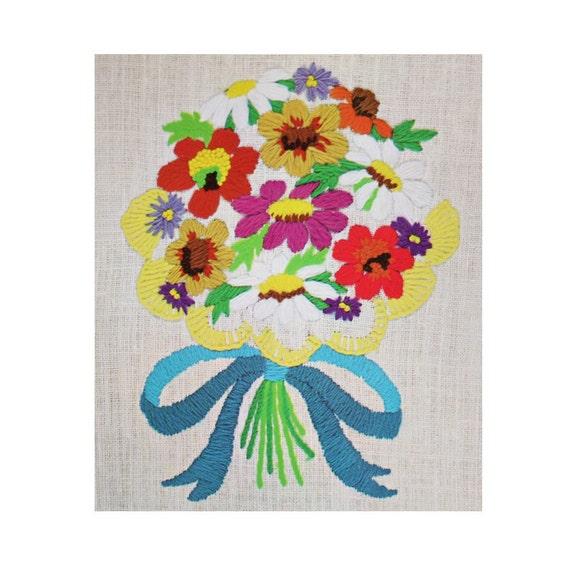 Vintage Crewel Embroidery Kit