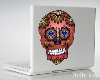 Copper Skull Decal - Dia de los Muertos  - Day of the Dead Vinyl Sugar Sticker