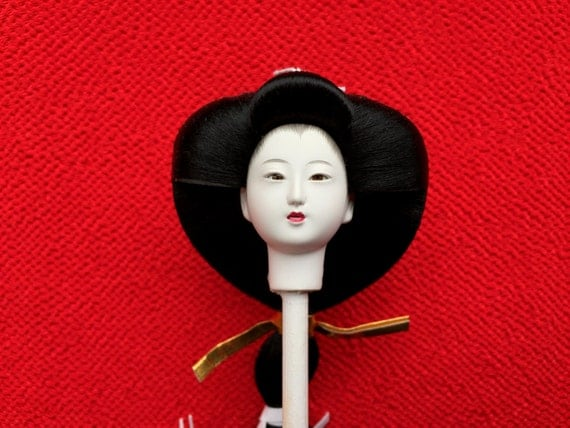Japanese Doll Head - Girl Doll Head - Body Part - Hina Matsuri - Japanese Doll Festival - D8-45